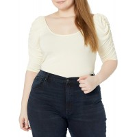 KENDALL + KYLIE Women's Plus Size Puff Sleeve Knit Top at  Women's Clothing store