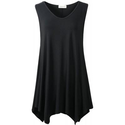 LARACE Women V-Neck Tank Top Tunic for Leggings at  Women's Clothing store