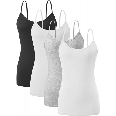 Orrpally Basic Cami Tank Tops Women Lightweight Camisole Stretch Tank Top 4-Pack at  Women's Clothing store