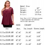 LINJOU Women's Plus Size Short Sleeve Lace Pleated T Shirts Flowy Casual Summer Blouses Tunic Tops at Women's Clothing store