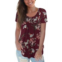 CPOKRTWSO Women's Plus Size Casual Tunic Tops Floral Blouses Short Long Sleeve Henley T Shirts for Women M-4XL at  Women's Clothing store