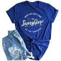 Muicy Womens Positive Sunshine Shirt Graphic Tees Casual Summer Tops Trendy Loose Fit Sweatshirts Tunic Tops With Pockets at  Women's Clothing store