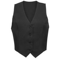 Fame Fabrics 82549 V42L Long Female Fitted Vest Black MD