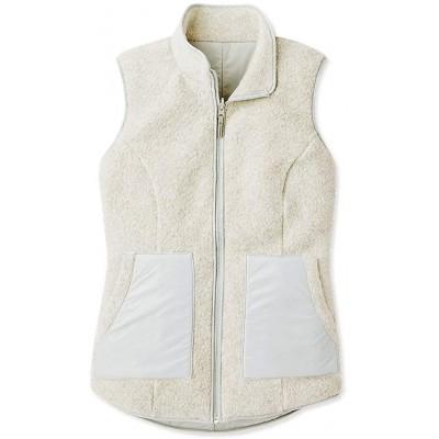 Smartwool Women's Reversible Sherpa Vest - Anchor Line Merino Wool Outerwear Storm Gray Medium