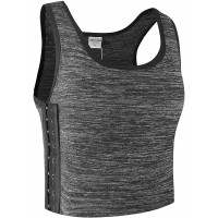 XUJI Women Tomboy Breathable Cotton Elastic Band Colors Chest Binder Tank Top M-6XL at  Women's Clothing store