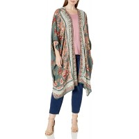 Angie Women's Plus Size Printed Kimono Duster Long Cardigan at  Women's Clothing store