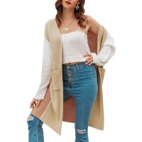 BerryGo Women's Cardigan Sweater with Pockets Long Sleeve Open Front Cardigan at  Women's Clothing store