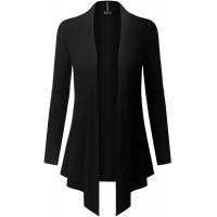 BH B.I.L.Y USA Women's Light Sweater Fabric Asymmetric Hem Open Front Long Cardigan at  Women's Clothing store
