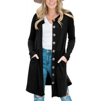 Clarisbelle Women's Button Down Waist Pleated Cardigan with Side Pockets at  Women's Clothing store