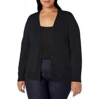 Essentials Women's Plus Size Lightweight Vee Cardigan Sweater