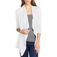 Hybrid & Company Super Comfy Womens Kimono Open Front Drape Cardigan Made in USA at  Women's Clothing store
