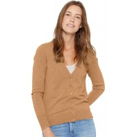 State Cashmere Women's 100% Pure Cashmere Button Front V-Neck Cardigan Long Sleeve Sweater at  Women's Clothing store
