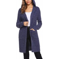 Sykooria Cardigans Womens Hoodie Knit Lightweight Sweaters with Pockets V Neck at  Women's Clothing store