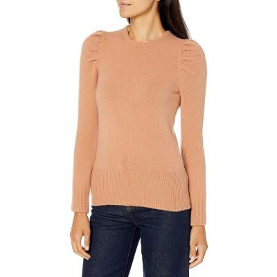 Brand - Lark & Ro Women's Boucle Puff Long Sleeve Crew Neck Sweater