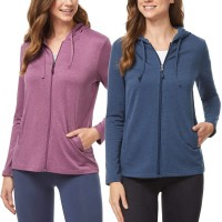 32 DEGREES Ladies' 2-Pack Lightweight Hoody with UPF 40+ at  Women's Clothing store