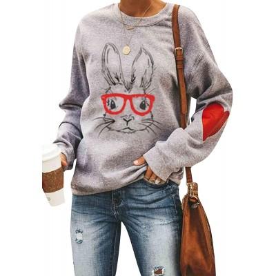 EFOFEI Womens St. Patricks Day Shamrock Sweatshirt Irish Clover Graphic Tops Oversized Long Sleeve Shirt at  Women's Clothing store