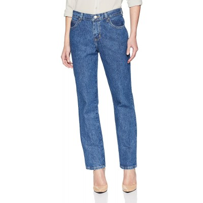 Lee Women's Petite Relaxed Fit All Cotton Straight Leg Jean at Women's Jeans store