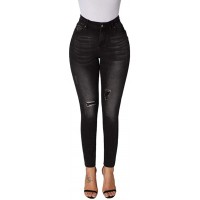 roswear Women's Ripped Stretchy Skinny Ankle Jeans at  Women's Jeans store
