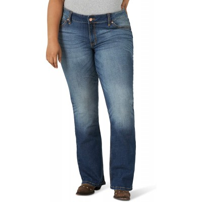 Wrangler Women's Retro Mae Plus Size Mid Rise Boot Cut Jean at Women's Clothing store