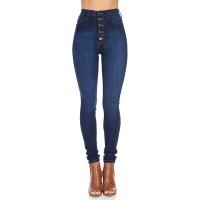 Vibrant Women's Juniors Button Fly Super High Waist Skinnys at  Women's Jeans store