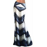 Novias Women Fashion Multicolored Print High Waist Maxi Skirt Long Skirt at  Women's Clothing store