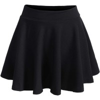 Romwe Women's Plus Size Stretchy Elastic Waist Flared Casual Mini Skater Skirt at  Women's Clothing store
