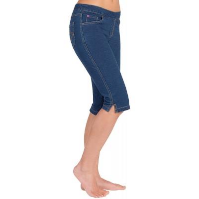 PajamaJeans Bermuda Shorts for Women - Stretch Denim Capri Jeggings at  Women's Clothing store