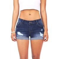 Wax Women's Juniors Body Enhancing Denim Shorts at  Women's Clothing store