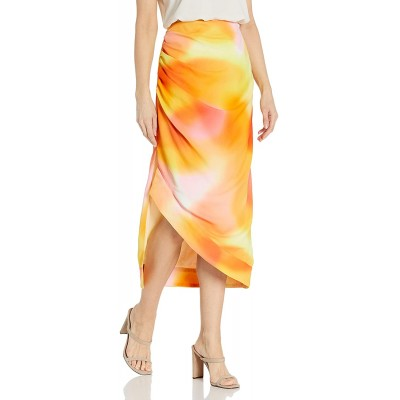 C Meo Collective Women's Ruched Midi Skirt at Women's Clothing store