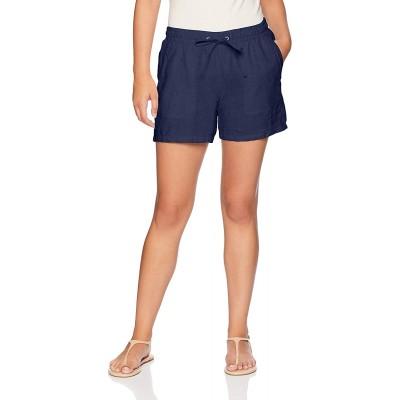 Essentials Women's 5 Drawstring Linen Short