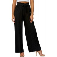 Premium Stretch Palazzo Pants for Women - High Waisted Micro Pleated - Regular and Plus Sizes at  Women's Clothing store
