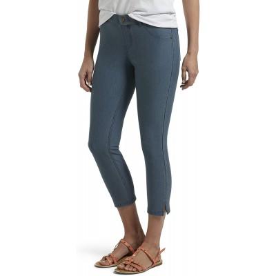 HUE Women's Ankle Slit Essential Denim Capri Legging at  Women's Clothing store