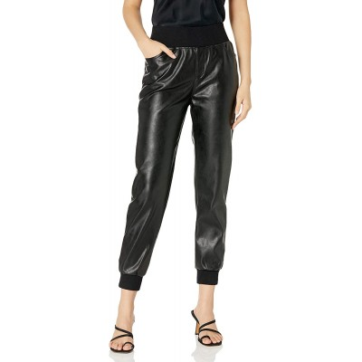 KENDALL + KYLIE Women's Vegan Leather Jogger at Women's Clothing store