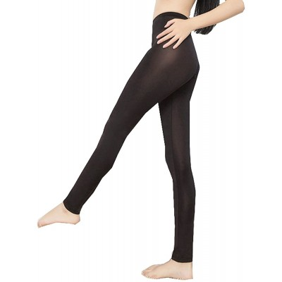 Lazutom Sexy Women Lady See-Through Nylon Open Zip Crotch Leggings Pants Black One Size at Women's Clothing store