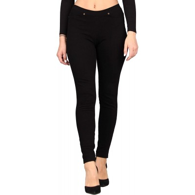 Lildy Women's Denim Jeggings Stretchable Cotton Blend at Women's Clothing store