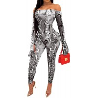 SeNight Bodycon Nightclub Jumpsuits for Women Sexy See Through Two Piece Outfits Off Shoulder Bodysuit Rompers Clubwear