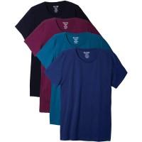 Bolter 4 Pack Men's Everyday Cotton Blend Short Sleeve T-Shirt |