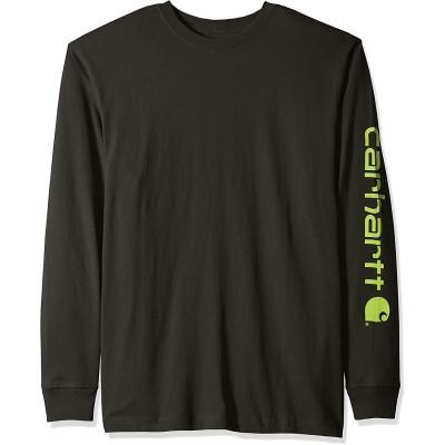 Carhartt Men's Signature Logo Long Sleeve T Shirt K231 |