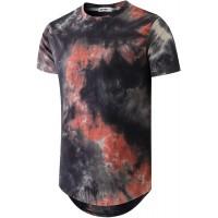 KLIEGOU Men's Hip hop Tie Dye Short Sleeve T-Shirt  