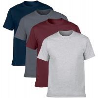 NewDenBer Men's Classic Basic Solid Ultra Soft Cotton T-Shirt 4 Pack |