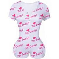 Meihuida Womens Onesies Pajamas Sexy Print Bodycon Romper Jumpsuit