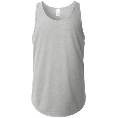 URBANCREWS Mens Hipster Hip Hop Classic Casual Solid Tank Top T-Shirt at Men's Clothing store