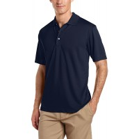 PGA TOUR Men's Airflux Short Sleeve Solid Golf Polo-Shirts at  Men's Clothing store