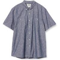 Brand - Goodthreads Men's Slim-Fit Short-Sleeve Chambray Shirt