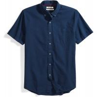Brand - Goodthreads Men's Standard-Fit Short-Sleeve Seersucker Shirt
