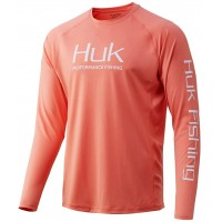 HUK Men's Pursuit Vented Long Sleeve Performance Fishing Shirt with +30 UPF Sun Protection