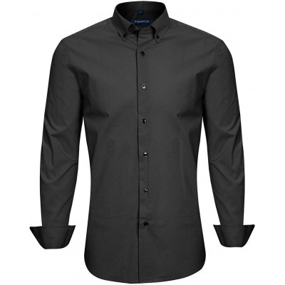 Slim Fit Shirts for Men Long Sleeve and Short Sleeve Button Down Shirts for Men with Large Variety of Colors