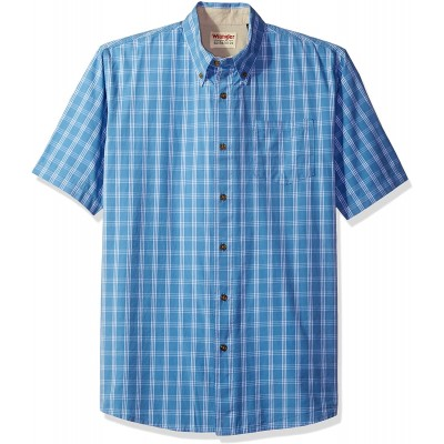 Wrangler Authentics Short Sleeve Classic Plaid Shirt at Men's Clothing store