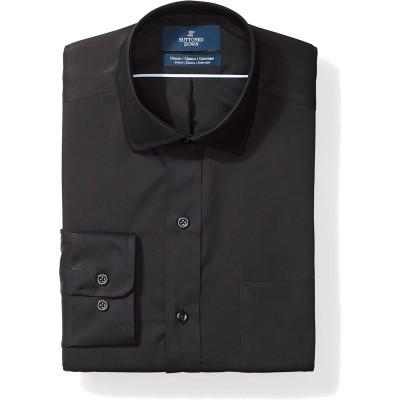 Brand - Buttoned Down Men's Classic Fit Stretch Poplin Dress Shirt Supima Cotton Non-Iron Spread-Collar