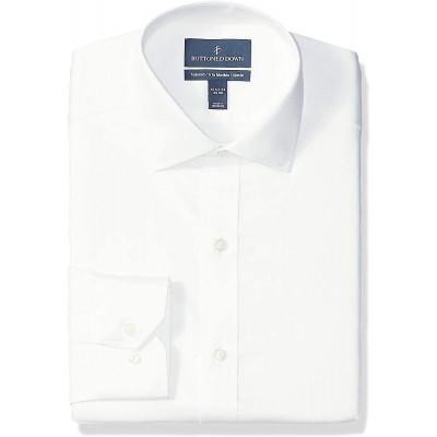 Brand - Buttoned Down Men's Tailored Fit Micro Twill Dress Shirt Supima Cotton Non-Iron Spread-Collar
